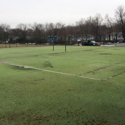 Addison Tennis Courts covered with Paramus grass.